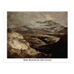 Slate Quarries By John Crome Postcard