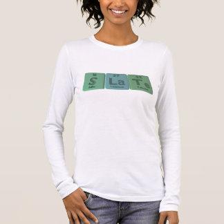 Slate-S-La-Te-Sulfur-Lanthanum-Tellurium.png Long Sleeve T-Shirt