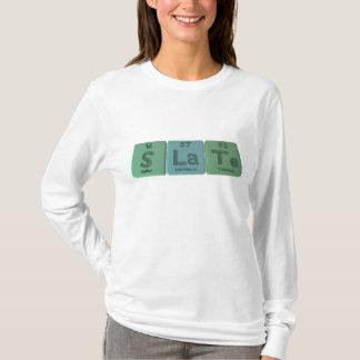 Slate-S-La-Te-Sulfur-Lanthanum-Tellurium.png T-Shirt