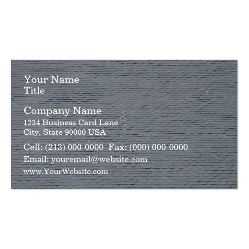 Slate Shingles Roof Tiles Business Card Templates