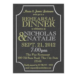 Slate Sign Board Rehearsal Dinner Card
