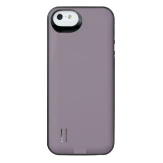 SLATE (solid light inky color) ~ Uncommon Power Gallery™ iPhone 5 Battery Case