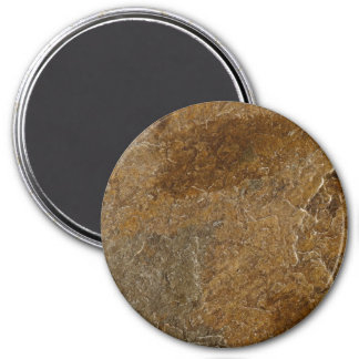 Slate Stone Background - Customized Template Blank 3 Inch Round Magnet