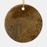Slate Stone Background - Customized Template Blank Ornaments