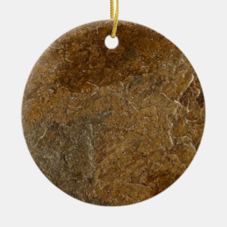 Slate Stone Background - Customized Template Blank Double-Sided Ceramic Round Christmas Ornament