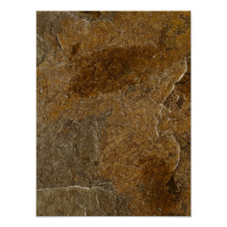 Slate Stone Background - Customized Template Blank Poster