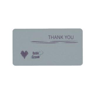 Slate Thank You Gift Sticker Address Label