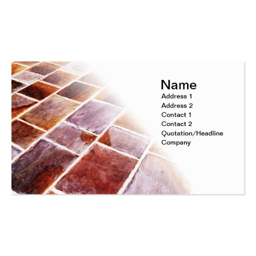 slate tiles Double Sided standard business cards Pack of