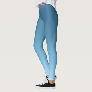 Slate to Sky Blue Gradient Fade Leggings
