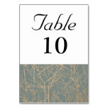Slate 'Tree' Table Number