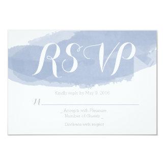 Slate Watercolor Wedding RSVP Card