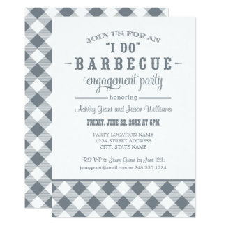 Slate Wedding Engagement Party | I Do BBQ Card