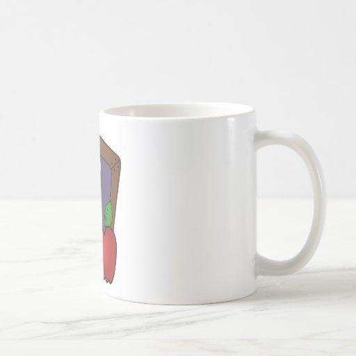 Slateboard and Apple Classic White Coffee Mug
