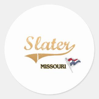 Slater Missouri City Classic Round Stickers