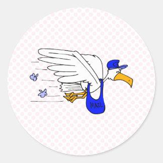 Slater Stork Round Sticker