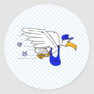 Slater Stork Round Stickers
