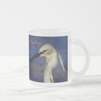 Slatey Egret Mugs