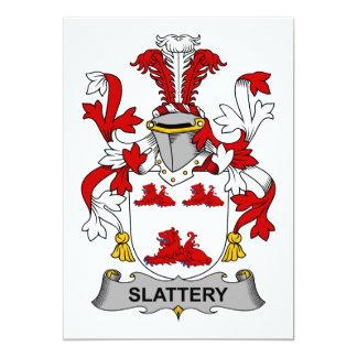 Slattery Family Crest 5x7 Paper Invitation Card