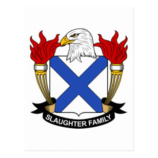 Slaughter Family Crest Postcard