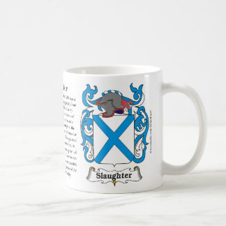 Slaughter, History, Meaning and the Crest Mug