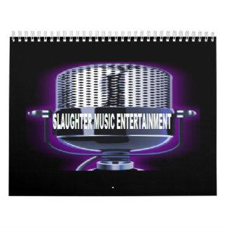Slaughter Music Jan 2011 - Dec 2011 Calendar