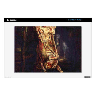 """Slaughtered Ox by Rembrandt Harmenszoon van Rijn 13"""" Laptop Skin"""