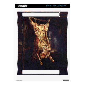 Slaughtered Ox by Rembrandt Harmenszoon van Rijn Xbox 360 Console Skin