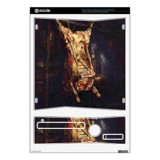 Slaughtered Ox by Rembrandt Harmenszoon van Rijn Xbox 360 S Console Decal