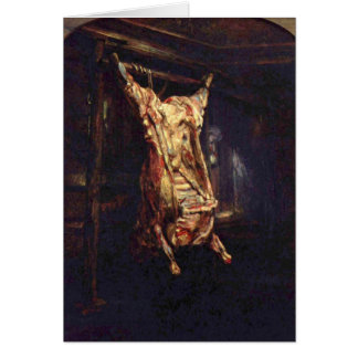 Slaughtered Oxen Card