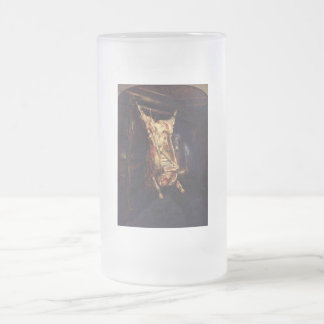 Slaughtered Oxen Frosted Glass Beer Mug