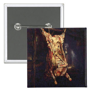 Slaughtered Oxen Pinback Button