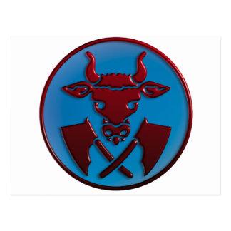 slaughterer symbols postcard