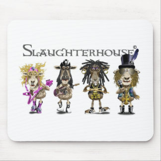 SLAUGHTERHOUSE a Heavy Metal rock band of sheep Mouse Pad