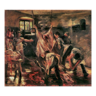 Slaughterhouse by Lovis Corinth Poster