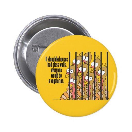 Slaughterhouses - Vegetarian, Vegan Pinback Button