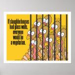 Slaughterhouses - Vegetarian, Vegan Poster
