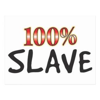 Slave 100 Percent Postcard