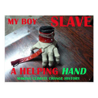 SLAVE HELPING HAND POSTCARD