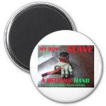 SLAVE HELPING HAND REFRIGERATOR MAGNET