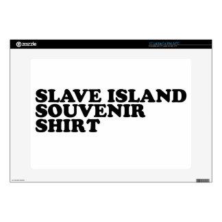 "Slave Island Souvenir Shirt 15"" Laptop Decal"