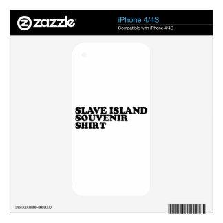 Slave Island Souvenir Shirt Skin For iPhone 4S