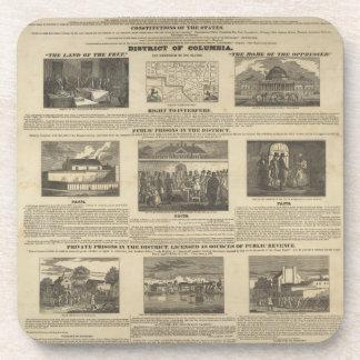 SLAVE MARKET OF AMERICA 1836 Broadside Beverage Coaster