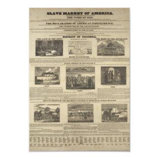 SLAVE MARKET OF AMERICA 1836 Broadside Card