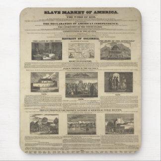 SLAVE MARKET OF AMERICA 1836 Broadside Mouse Pad