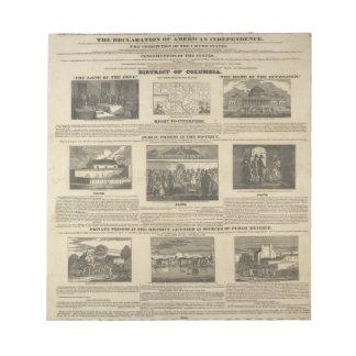 SLAVE MARKET OF AMERICA 1836 Broadside Memo Notepads