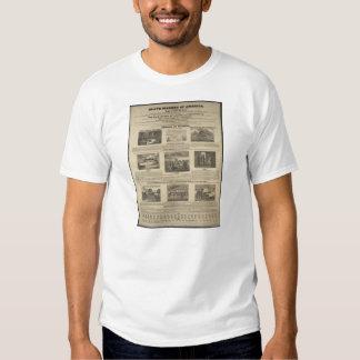 SLAVE MARKET OF AMERICA 1836 Broadside T-shirt