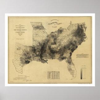Slave Population Map 1861 Poster