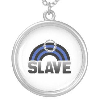 SLAVE RAINBOW ROUND PENDANT NECKLACE