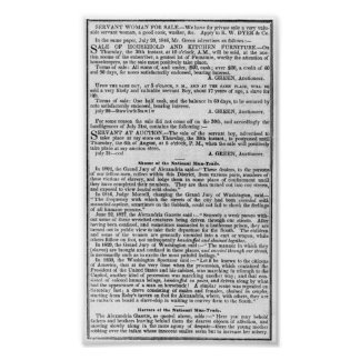 SLAVERY BUSINESS NEWS   1847 POSTER