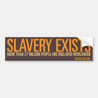 Slavery Exists Bumper Sticker